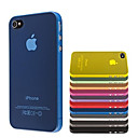 ultra pc mince couverture de cas transparent pour iPhone 4 / 4S (couleurs assorties)