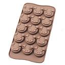 schattig klein varken gezicht siliconen chocolade mallen