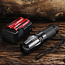 2200LM CREE XM-L T6 LED Flashlight + 2x18650 Battery + Charger