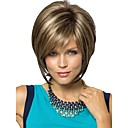 Buy Women Lady Short Synthetic Hair Wigs Pixie Cut wig Straight Brown Blonde Highlights Wig