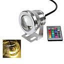 1 stk. Ding Yao 10 W 1 Integrert LED 1000-1200 LM Varm hvit/Kjølig hvit Fjernstyrt Spotlys DC 12 V