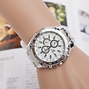 Buy Men's Watches Three Eyes Full Steel Alloy Quartz Movement Watch Business Cool Unique