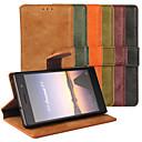 Buy Huawei Case Card Holder / Stand Flip Full Body Solid Color Hard PU Leather P7