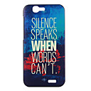 Buy Huawei Case Pattern Back Cover Word / Phrase Hard PC G7
