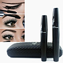 2PCS 3D Moodstruck Thick Eyelashes Fiber Lashes Black Waterproof Eye Lash Mascara Set(Transplanting Gel&Fibers)