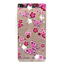 Buy Huawei Case / P8 Ultra-thin Transparent Back Cover Flower Soft TPU P7