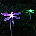 Buy Pack 2 Solar Color-Changing Dragonfly Garden Stake Light Landscape Lighting Pathway Stairway