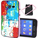 Buy Love Words Splash-ink Pattern Plastic/TPU 2 1 Design Back Cover Case Samsung Galaxy Core G355H