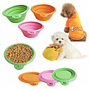 Silicone Folding Bowl for Pet Dogs (Random Color)