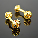Buy Toonykelly® Fashion Copper Gold Plated Hemp Flower Shirt Button Cufflink(1 Pair)