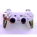 Plating Silver Wireless Joystick Bluetooth DualShock3 Sixaxis Rechargeable Controller gamepad for Sony PS3