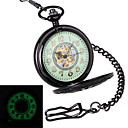 Men's Retro Wheel Carving & Glow-in-the-Dark Design Mechanical Pocket Watch Brand New Mechanical Hand Wind Watches