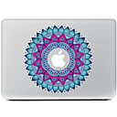 fiore circolare 1 adesivo decorativo pelle per macbook air / pro / pro con display retina
