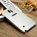 White and Golden PC Shockproof and Anti-wresting Back Cover Case for Samsung Galaxy Note4