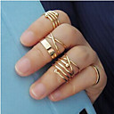 Fashion Alloy 6 Suits Midi  Rings