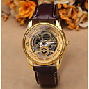 Buy Fashion Dress Men Watches Skeleton Transparent Stainless Steel Quartz Wrist Watch Women Pretty Luxury Leather Cool Unique