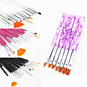 Buy 1Acrylic Nail Art Design Painting Drawing Pen Brush(3 Color Choose)with UV Gel Brush Set Nylon Hair