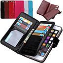 de ji pu lederen portemonnee met 9-kaartsleuf flip case voor de iPhone 6 plus / 6s plus (verschillende kleuren)