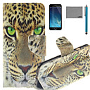 Buy LEXY® Green Eyes Leopard Pattern PU Full Body Leather Case Screen Protector Stylus iPhone 6/6S Plus
