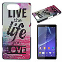 Buy Sony Case / Xperia Z3 Pattern Back Cover Word Phrase Hard PC Compact