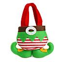 heiße Verkaufsart und weise christmas santa Hosen elf Geist Süßigkeitstaschen Weihnachtsdekoration Sack niedlichen Kind Geschenk weichen