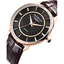 Buy Men's Zircon Genuine Leather Quartz Watches Wrist Watch Cool Unique