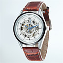 Buy Men's Korean Business Hollow Full Automatic Round Dial Leather Band Machine Analog Wrist Watch(Assorted Color) Cool Watch Unique