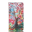 træ mønster kortet stå lædertaske til Huawei P8 / P8 lite