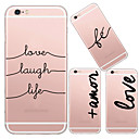 MAYCARI®Because of Love TPU Back Case for iPhone 6/iphone 6S(Assorted Colors)