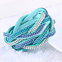 Buy Lureme®Fashion Woven Leather Women's Multilayer Crystal Bracelets Jewelry Christmas Gifts