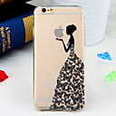 Butterfly Dress Girl Pattern TPU Soft Back Cover for iPhone 6/6S