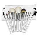 Buy Premium Synthetic Kabuki Makeup Brush Set Cosmetics Foundation Blending Kit (10pcs, White)
