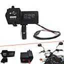マウントhandbar主導のデジタル電圧計で12V-24V防水オートバイ車のデュアルUSB充電