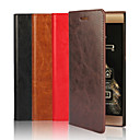 Genuine Leather Solid Color Ultra-Thin No Buckle Wallet Card PU Case with Stand for Huawei P8(Assorted Colors)