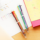 transparentní 6-barevný kuličkové pero (1 ks)