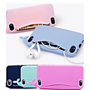 lovly silikon hval mykt etui for iPhone 4 / 4S (assorterte farger)