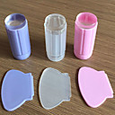 Silicone Clear Nail Art Stamping DIY Polish Stamp Nail Art Stamper Scraper Plate Templates Kits Nail Decoration