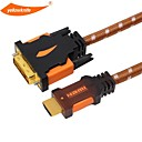 Buy yellowknife HDMI DVI Cable High speed Gold Plated Plug Male-Male 1080p HDTV XBOX PS3