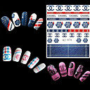 Buy 4 Sheets Watermark Transfers 3D Nail Stickers Decals Foil Art Decorations Tools Accessories