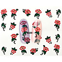 Buy 13D Water Transfer Red Peony Flower Nail Art Sticker DIY Decoration Tools Tips BLE856D