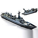 Buy Jigsaw Puzzles 3D Building Blocks DIY Toys Warship Paper Green / Gray Model & Toy