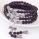 Buy Women's Fashion Crystal Stone Beaded Multilayer Charm Bracelet