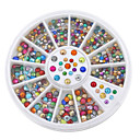 Buy Fashion Mix-colors Nail Rhinestones Acrylic Art Decoration UV Gel Iphone laptop DIY tools
