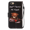 Buy Bear Pattern PU Leather Material Phone Case iPhone 6/iPhone 6S