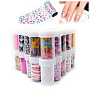 Buy 3D Star/Lace/Flower stickers nails Nail Art Foil Stickers Flower Decals Tips Manicure Tool Popular