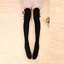 Buy Socks/Stockings Classic/Traditional Lolita Lace-up Black Accessories Stockings Bowknot Women Cotton