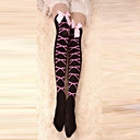 Buy Socks/Stockings Punk Lolita Lace-up Black Accessories Stockings Bowknot Women Velvet