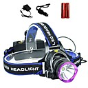 Buy Lights Headlamps LED 2000 Lumens 3 Mode Cree XM-L T6 18650Adjustable Focus / Waterproof Rechargeable Impact Resistant High Power