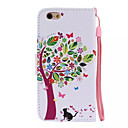 Buy Tree Cats Pattern PU Leather Material Phone Case iPhone 6/iPhone 6S