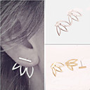Buy Earring Flower Stud Earrings Jewelry Women Wedding / Party Daily Casual Alloy 1 pair Gold